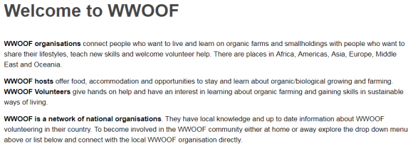 WWOOF About